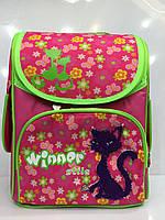Рюкзак Winner stile 1828 школьный детский для девочек розовый с рисунком