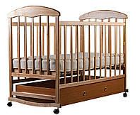 Кровать детская из натурального дерева, с ящиком, ясень светлый, Наталка