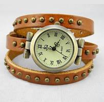 Женские часы JQ с кожаным ремешком оранжевый