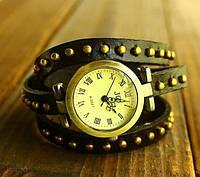 Женские часы JQ с кожаным ремешком черный