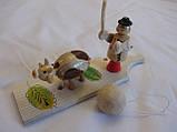 Пастух деревянный (эко-игрушка), 16,5х4 см, 50\45 (цена за 1 шт. +5 грн.), фото 4