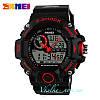Мужские спортивные часы Skmei S-Shock черные с красным