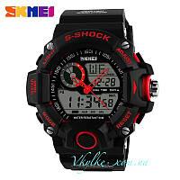 Спортивные часы  Skmei S-Shock черные с красным
