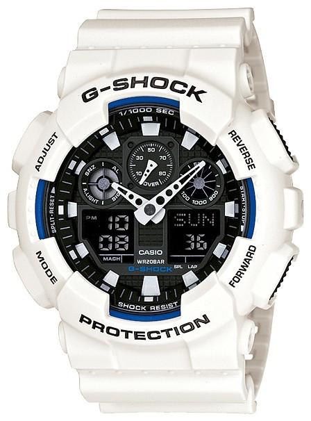 Часы Casio Original G-Shock GA-100B-7AER белые с черным