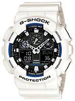 Часы Casio Original G-Shock GA-100B-7AER белые с черным, фото 1