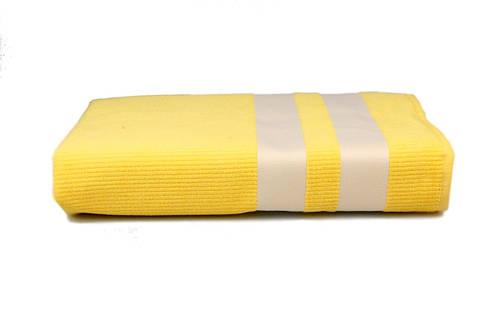 Полотенце пляжное велюровое Homeline жёлтое 70х150, фото 2