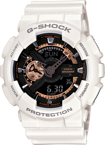 Часы Casio Original G-Shock GA110RG-7A белые с черным