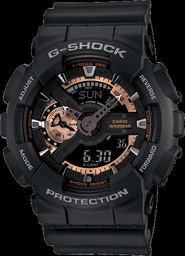 Часы Casio Original G-Shock GA-110RG-1AER черные с розовым