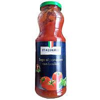 Паста томатная ITALIAMO базилик с/б 700мл