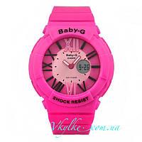 Женские спортивные часы Casio Baby-G BGA-160 розовые