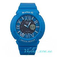 Женские спортивные часы Casio Baby-G BGA-160 голубые