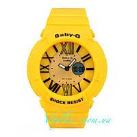 Женские спортивные часы Casio Baby-G BGA-160 желтые