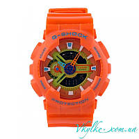 Мужские часы Casio G-Shock GA-110 оранжевые