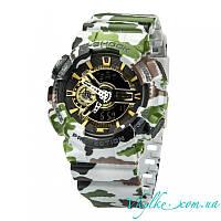 Мужские часы Casio G-Shock GA-110 хаки серые