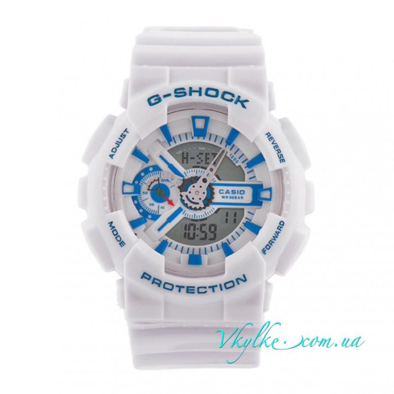 Мужские часы Casio G-Shock GA-110 белые