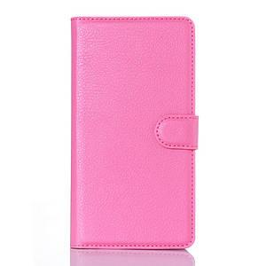 Чехол книжка для Doogee Kissme DG580 боковой с отсеком для визиток, Розовый