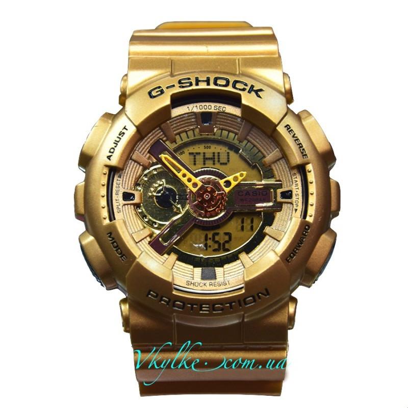 Мужские часы Casio G-Shock GA-110 золотые