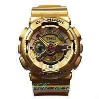Мужские часы Casio G-Shock GA-110 золотые, фото 1