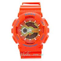 Женские спортивные часы Casio Baby-G BA-110 оранжевые