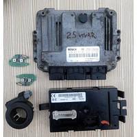 Комплект Opel Vivaro 2.5 DCI Електронний блок управління 8200091517 2001-2014рр