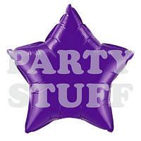Фольгированный шар Звезда фиолетовый, 44 см