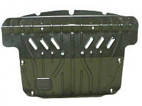 Защита картера двигателя, КПП, радиатора + крепеж для Volkswagen Caddy '95-04, V-1,4; 1,6; 1,9D; 1,9TDI, без