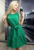 Платье коктейльное прима, зелёное