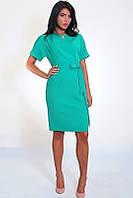 Бирюзовое платье модного фасона, фото 1