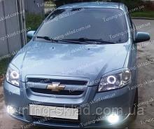 Вії Шевроле Авео Т250 (накладки на передні фари Chevrolet Aveo 3 T250)