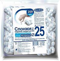 Марлевые шарики нестерильные з рентген.нит. D25мм 200 шт