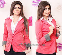 Пиджак №1001-розовый
