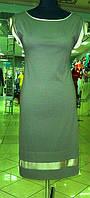 Платье стильное трапеция трикотажное, молодежная одежда большого размера