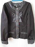 Школьные пиджаки черного цвета со вставками.