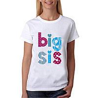 "Женская футболка ""Big Sis"". Размер S"