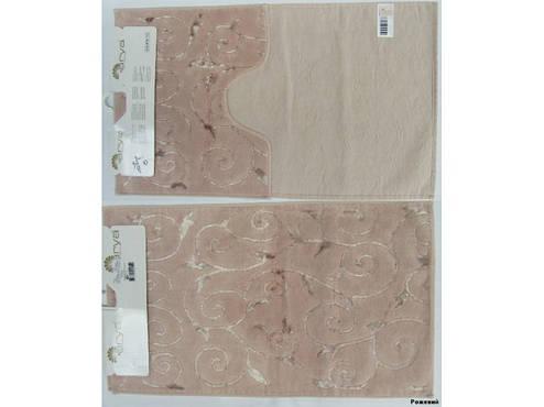 Набор ковриков для ванной и туалета Arya Sarmasik 2 Пр. 60Х100 Розовый Пудровый, фото 2