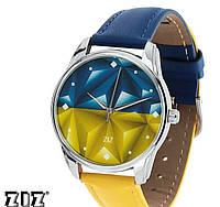 """Прикольные наручные часы """"Флаг треугольники"""" ZIZ (Украина)"""