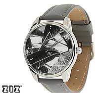"""Прикольные наручные часы """"Тропический"""" серый ZIZ (Украина)"""