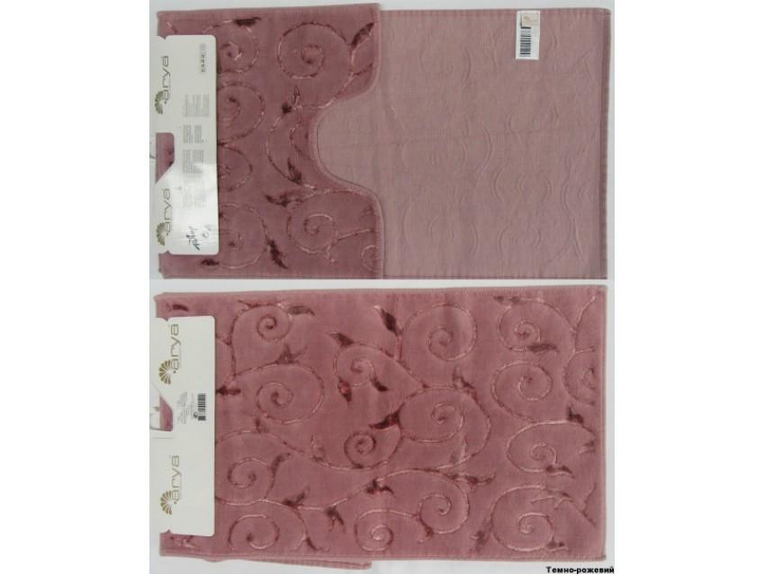 Набор ковриков для ванной и туалета Arya Sarmasik 2 Пр. 60Х100 Розовый Пудровый