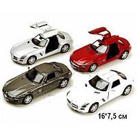 KINSMART Mercedes - Benz SLS AMG, метал, инерционная, 1:36, в кор. 16х8х7 /96-4
