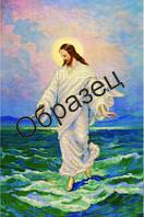 """Схема для вышивки бисером """"Иисус, идущий по воде"""""""