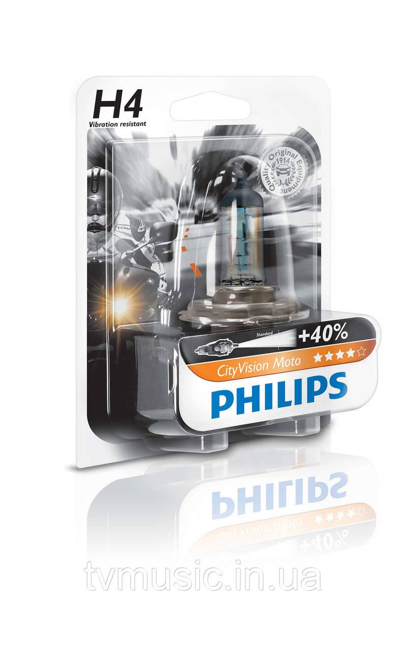 Галогенная лампа Philips City Vision Moto H4 (12342CTVBW)