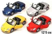 KINSMART Porsche Boxster S, метал, инерционная, в кор. 16х8х7 /96-4