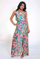 Модный длинный сарафан в красивые цветы