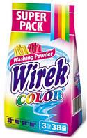 Пральний порошок для кольорових тканин  Wirek™ Color,  3 кг /38пр, фолія/