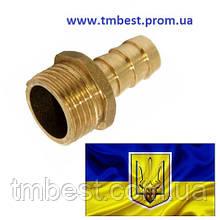 """Штуцер 1-1/4""""Н х 25 латунный"""