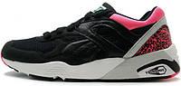 Мужские кроссовки Puma R698 OG 93 black / pink, пума 698