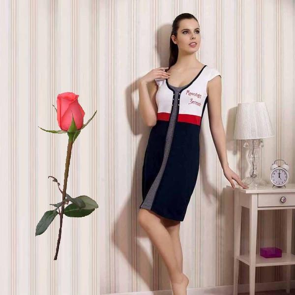 Комбинированное Трикотажное платье  Т 774315
