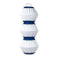 SOLVINDEN Подвесная светодиодная лампа, синий/белый
