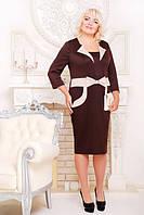 Трикотажное платье Лили большие размеры 50-58