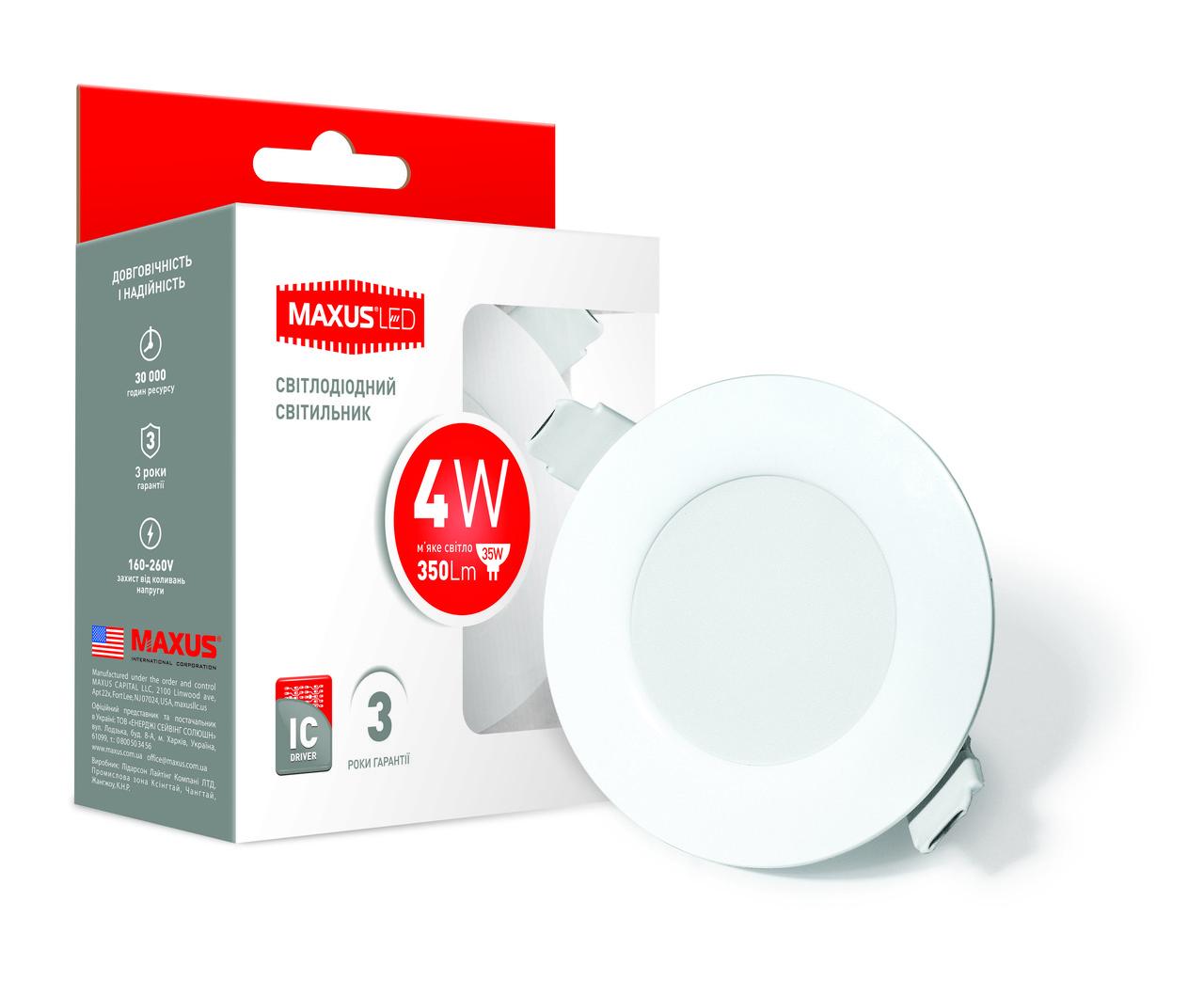 Точечный LED светильник Maxus SDL 4W 3000K